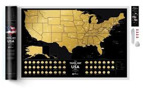 Купить <b>1DEA</b>.<b>me</b> Скретч <b>карта</b> Америки <b>Travel Map</b> USA Black на ...