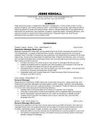 fast food restaurant experience resume restaurant server sample resume