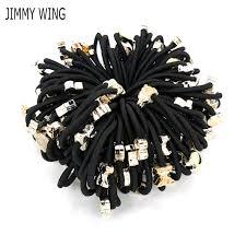 <b>50pcs</b> Girls Colorful Small Ring Elastic <b>Hair</b> Bands Ponytail Holder ...