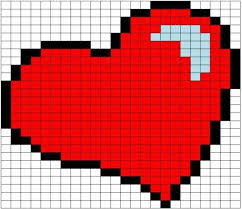 Рисунки по клеточкам «Сердечко» 60 рисунков