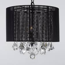 black shade crystal chandelier black crystal chandelier lighting