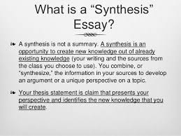 definition synthesis essay format  essay