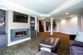 basement tv built in basement traditional with purple sofa tv over fireplace home bar built home bar cabinets tv