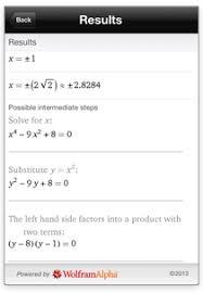 Wolfram Course Assistant Apps  Algebra Step by Step Homework Help