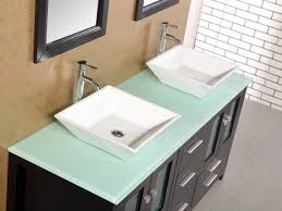 double green tempered glass vessel bathroom sink tempered glass top d decb g twi tempered glass top