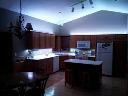 Led Track Lighting For Kitchen Led Kitchen Lighting Cool Blue Led Light Under And Up Cabinet