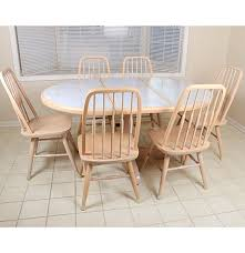 seven piece dining set: late th century seven piece dining set by dinaire furniture