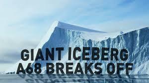 Giant iceberg breaks off Antarctica Larsen C forever - YouTube