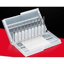 10pcs 1.5mm-<b>3.175mm</b> End Mill Engraving Bits <b>1/8 inch</b> CNC ...