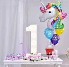 10PCS <b>Unicorn</b> Large Rainbow <b>Foil Helium Balloon</b> Kids Birthday ...