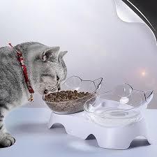 <b>Non</b>-<b>slip Cat Bowls</b> Single <b>Double</b> Bowls with Stand <b>Pet Bowls</b> for ...