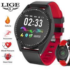 <b>LIGE 2019 New</b> Smart Watch Men OLED Screen Heart Rate Monitor ...