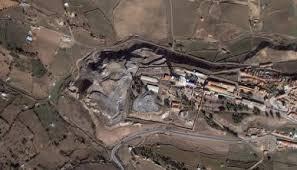 mina de mercurio en una huerta