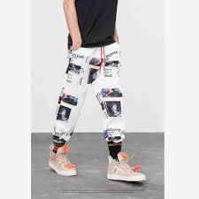 2019 <b>HFNF Harem Pants Graphic</b> Print Pencil Pants Elastic Waist ...