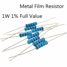 Fixed Resistors <b>50pcs Metal Film</b> Resistor <b>1W</b> 10Ohm <b>Metal Film</b> ...
