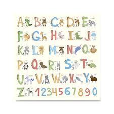 Coloured Cute <b>Animal</b> Kids Alphabet Posters - Poster <b>Printing</b> - Wall ...