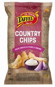 <b>Картофельные чипсы со вкусом</b> сметаны и лука - Taffel Taffel