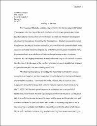 macbeth dualism essay castrejon samuel castrejon mrs angus honors this preview has intentionally blurred sections sign up to view the full version