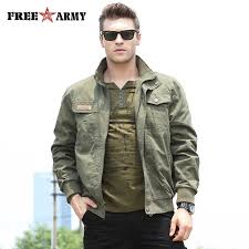 Free <b>Army Jacket Men</b> Autumn <b>Spring</b> 2018 Fashion Contracted ...
