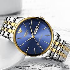 Online Shop <b>NIBOSI</b> Fashion <b>Luxury Brand</b> Watches Men Stainless ...