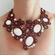 'Macchiato' ooak soutache <b>necklace</b>, <b>modern</b> jewelry, artistic jewelry ...