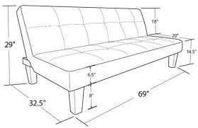 product dimensions aria futon sofa bed