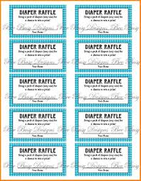 printable raffle tickets receipt templates printable blue gingham diaper raffle tickets great for baby showers