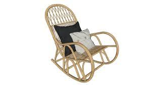 <b>Rocking chair</b>. Rattan. Кресло-качалка. Ротанг. | 3D Warehouse