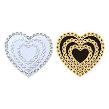 <b>Love</b>*Handmade <b>DIY</b> Openwork Heart Shape Cutting Die <b>Carbon</b> ...