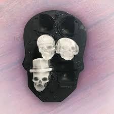 <b>3D</b> Silicone <b>Skull</b> Mold 6 Ice Cube Mould <b>Creative</b> Candy Sugar ...