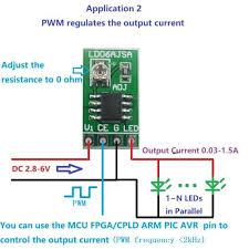 Generic <b>DC</b> 3.3V 3.7V 5V LED pilote <b>30</b>-<b>1500MA</b> courant Constant ...