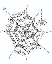 Small Picture FREE Halloween Adult Coloring Page Spider Web FREE Adult