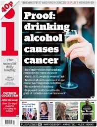 study proves alcohol causes cancer the problem there wasn t a for what it s worth i happen to agree her that the associations between drinking and cancer in certain parts of the body particularly around the