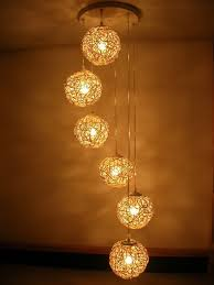 free shipping handmade six beads spiral rattan lighting hand weaving chandelier living room lights decorative lights bedroom light home lighting