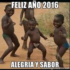 año Dancing kid Feliz 2016 Alegria y sabor - black | Meme Generator via Relatably.com