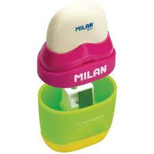 Цена на <b>Набор MILAN</b> ластик + точилка 1 отверстие Gapsule Mix ...
