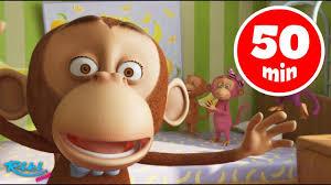 Песенки для детей - Сборник <b>Обезьянки</b> Five Little Monkeys Songs