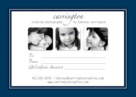 gift ideas carrington creative photography blog gift certificate