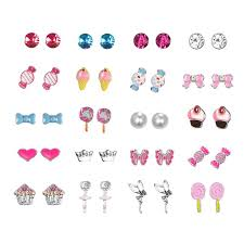 SENG <b>20 Pairs Kids Stud</b> Earrings Set Mixed Color Cute Animal ...