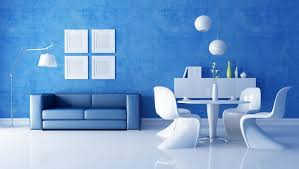 room design rendering house interior decor with blue and white combination design architecture blue room white furniture