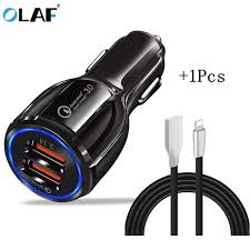 <b>Olaf Car USB</b> Charger Quick Charge 3.0 2.0 Mobile Phone Charger ...