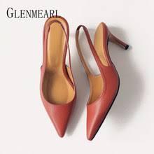 Online Shop <b>BIGTREE</b> Back Strap Women High Heels Pointed Toe ...