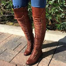 <b>Liren 2019</b> New <b>Winter</b> Fashion <b>Women</b> Over The Knee Boots Thigh ...