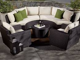 patio furniture sectional ideas: outback living solana wicker  piece curved sectional set middot sunset westgazebo ideaspatio setsoutdoor furniturefurniture ideaslandscaping