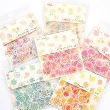 <b>1pack</b>/<b>lot</b> Kawaii <b>Cute Cartoon</b> Sticker Flamingo Cactus Cherry ...