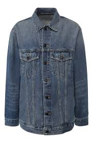 Женская синяя <b>джинсовая</b> куртка DENIM X <b>ALEXANDER WANG</b> ...