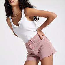 Pink Annie high rise denim hot pants   <b>Women's</b> Hot Pants   Hot ...