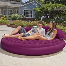 inflatable garden furniture amazoncom intex ultra daybed inflatable lounge 75quot x 21quot camping air mattresses sports cafe lighting 16400 natural linen