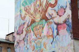 Гид по уличному искусству Петербурга: Даниил Хармс, мурал из ...