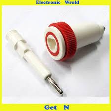 10pcs <b>4mm</b> Banana Plug <b>Jack Pure</b> Copper 20KV 2000V High ...